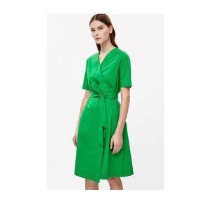 COS Green Wrap Dress